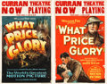 "Movie Posters:War, What Price Glory (Fox, 1926). Window Cards (2) (14"" X 22"") andAutographed Stage Play Program (9"" X 12"").. ... (Total: 3 Items)"