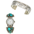 Estate Jewelry:Lots, Turquoise, Sterling Silver Jewelry. ... (Total: 2 Items)