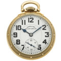 Timepieces:Pocket (post 1900), Hamilton 21 Jewel 992 B Open Face Pocket Watch. ...