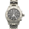 Timepieces:Wristwatch, Tag Heuer Stainless Steel Chronograph Wristwatch. ...