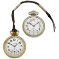 Timepieces:Pocket (post 1900), Elgin 21 Jewel Father Time & Hamilton 21 Jewel Series 992 OpenFace Pocket Watches. ... (Total: 2 Items)
