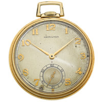 Hamilton 21 Jewel 14k Gold 12 Size Pocket Watch