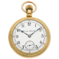 Timepieces:Pocket (post 1900), Hamilton 17 Jewel 18 Size Open Face Pocket Watch. ...