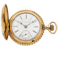 Timepieces:Pocket (pre 1900) , Rare Illinois 21 Jewel Montgomery Ward RR Timer Hunter's CasePocket Watch. ...