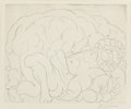 Fine Art - Work on Paper:Print, Pablo Picasso (Spanish, 1881-1973). Le Viol II (from LaSuite Vollard), 1933. Drypoint on Montval laid paper. 11-3/4...