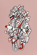 Post-War & Contemporary:Contemporary, Jean Dubuffet (French, 1901-1985). Objectador (fromPresences Fugaces), 1973. Screenprint in colors. 19-5/8 x13-1/4...