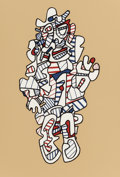 Post-War & Contemporary:Contemporary, Jean Dubuffet (French, 1901-1985). Denegator (fromPresences Fugaces), 1973. Screenprint in colors. 19-5/8 x13-1/4 ...