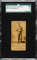 Baseball Cards:Singles (Pre-1930), 1887 N172 Old Judge Ed Delahanty (#123-1) SGC 60 EX 5. ...