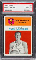 Basketball Cards:Singles (Pre-1970), 1961 Fleer Rudy Larusso #26 PSA Mint 9....