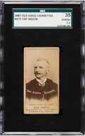 Baseball Cards:Singles (Pre-1930), 1887 N172 Old Judge Cap Anson, Street Clothes (#11-1) SGC 35 Good+2.5. ...
