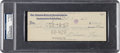 Baseball Collectibles:Others, 1963 Nellie Fox Signed Check, PSA Authentic....