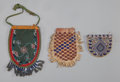 American Indian Art:Beadwork and Quillwork, Three Athabaskan/Northern Plains Beaded Pouches... (Total: 3 )