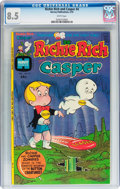 Bronze Age (1970-1979):Humor, Richie Rich and Casper #4 (Harvey, 1975) CGC VF+ 8.5 Whitepages....