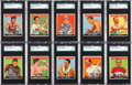 Baseball Cards:Sets, 1933 Goudey Sport Kings SGC Graded Partial Set (31/48). ...
