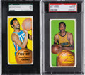 Basketball Cards:Lots, 1970 Topps Basketball High Grade Pair (2). ...