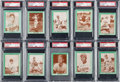 Baseball Cards:Sets, 1958 Bell Brand Los Angeles Dodgers PSA Graded Complete Set (10). ...