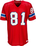 Football Collectibles:Uniforms, 1975-80 Russ Francis Game Worn New England Patriots Jersey - Kindler Collection....