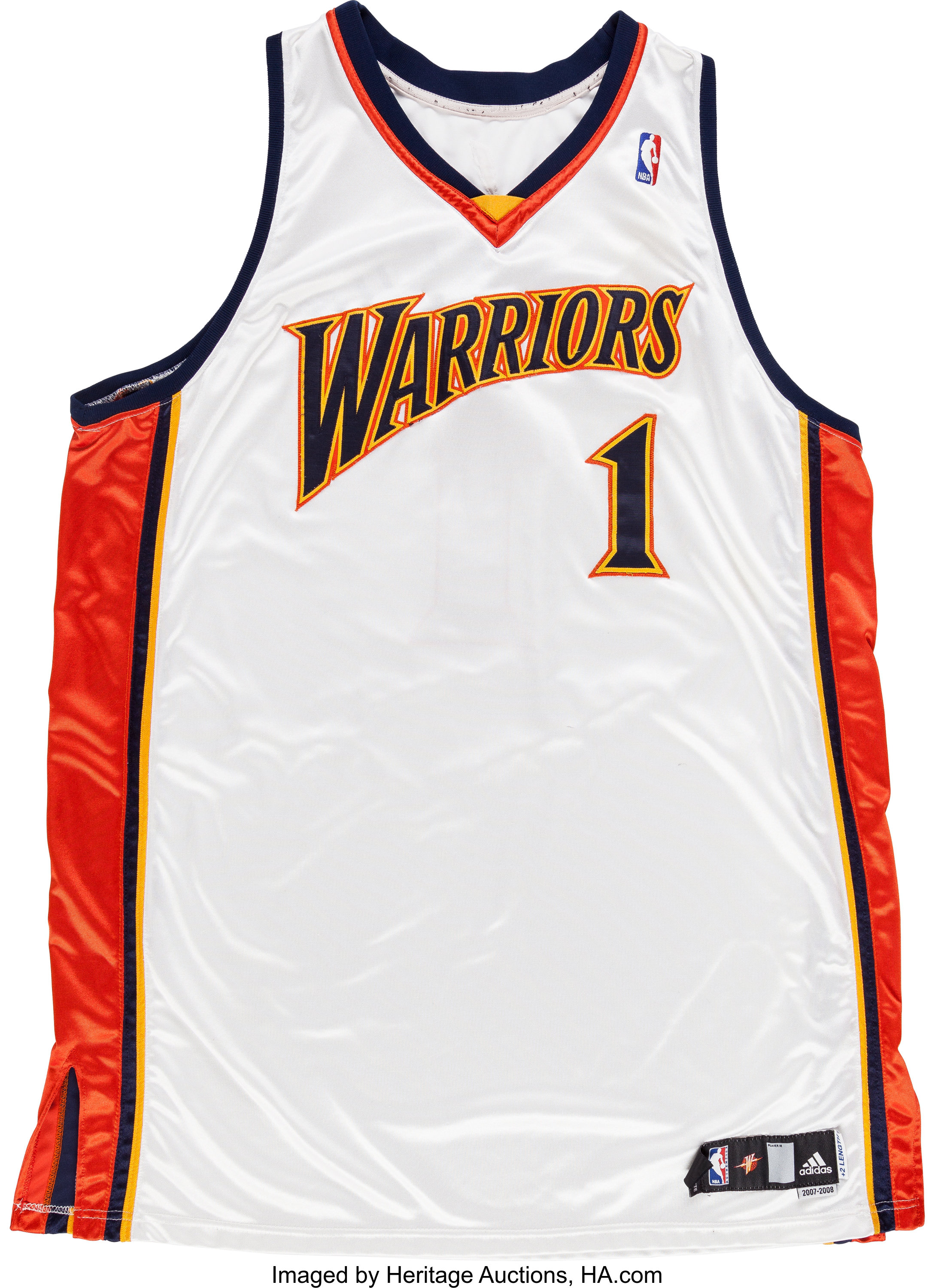 factory price 1b39a 4ad63 2007-08 Stephen Jackson Game Worn Golden State Warriors ...