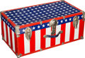 Baseball Collectibles:Others, 1970's American Flag Traveling Trunk from The Brooks RobinsonCollection....