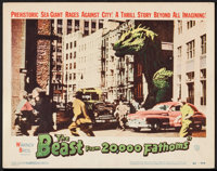 """The Beast from 20,000 Fathoms (Warner Brothers, 1953). Lobby Card (11"""" X 14""""). Science Fiction"""