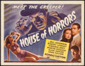 "Movie Posters:Horror, House of Horrors (Universal, 1946). Title Lobby Card (11"" X 14"").Horror.. ..."
