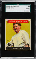 Baseball Cards:Singles (1930-1939), 1933 Sport Kings Babe Ruth #2 SGC 50 VG/EX 4. ...