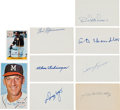 Baseball Collectibles:Others, 1970's-'80's Baseball Greats Signed Index Cards & Others - 76 Total Autographs....