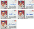 Baseball Collectibles:Others, 1981 Joe DiMaggio Signed First Day Cover Lot of 5....