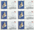 Baseball Collectibles:Others, 1979 Mickey Mantle Signed First Day Cover Lot of 6. ...