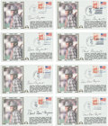 """Football Collectibles:Others, 1981 Paul """"Bear"""" Bryant Signed First Day Cover Lot of 8. ..."""