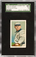 Baseball Cards:Singles (Pre-1930), 1909-11 T206 Sovereign 350 Cy Young, Glove Shows SGC 60 EX 5 - Pop One, One Higher. ...