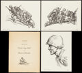 """Movie Posters:War, A Portfolio of Impressions of Pork Chop Hill by Howard Brodie(1959). Autographed Limited Edition Portfolio (3) (12.75"""" X 16..."""