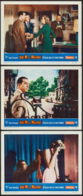 """Movie Posters:Hitchcock, Dial M for Murder (Warner Brothers, 1954). Lobby Cards (3) (11"""" X14""""). Hitchcock.. ... (Total: 3 Items)"""