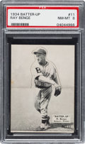 Baseball Cards:Singles (1930-1939), 1934-36 R318 Batter-Up Ray Benge #11 PSA NM-MT 8 - Pop One, None Higher!...