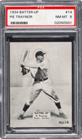 Baseball Cards:Singles (1930-1939), 1934-36 R318 Batter-Up Pie Traynor #14 PSA NM-MT 8 - Pop Three, None Higher....