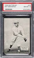 Baseball Cards:Singles (1930-1939), 1934-36 R318 Batter-Up Roy Mahaffey #15 PSA NM-MT 8 - Pop Two, NoneHigher....