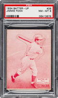 Baseball Cards:Singles (1930-1939), 1934-36 R318 Batter-Up Jimmie Foxx #28 PSA NM-MT 8 - None Higher....