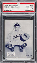 Baseball Cards:Singles (1930-1939), 1934-36 R318 Batter-Up Mickey Cochrane #25 PSA NM-MT 8 - Pop Two,None Higher....