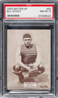 Baseball Cards:Singles (1930-1939), 1934-36 R318 Batter-Up Bill Dickey #30 PSA NM-MT 8 - Pop Two, NoneHigher....
