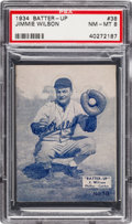 Baseball Cards:Singles (1930-1939), 1934-36 R318 Batter-Up Jimmie Wilson #38 PSA NM-MT 8 - Pop Two,None Higher. ...