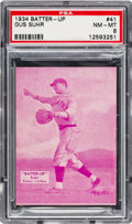 Baseball Cards:Singles (1930-1939), 1934-36 R318 Batter-Up Gus Suhr #41 PSA NM-MT 8 - Pop Two, None Higher. ...