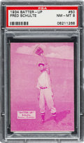 Baseball Cards:Singles (1930-1939), 1934-36 R318 Batter-Up Fred Schulte #50 PSA NM-MT 8 - Pop Four, None Higher...