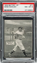 Baseball Cards:Singles (1930-1939), 1934-36 R318 Batter-Up Heine Manush #77 PSA NM-MT 8 - NoneHigher....
