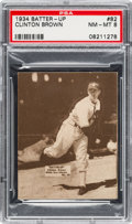 Baseball Cards:Singles (1930-1939), 1934-36 R318 Batter-Up Clinton Brown #82 PSA NM-MT 8 - Pop One,None Higher!...