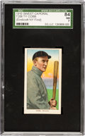 Baseball Cards:Singles (Pre-1930), 1909-11 T206 Sweet Caporal Ty Cobb, Bat Off Shoulder SGC 84 NM 7 -Among The Finest SGC Examples! ...