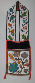 American Indian Art:Beadwork and Quillwork, A Chippewa Beaded Cloth Bandolier . c. 1910...