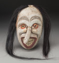 American Indian Art:Wood Sculpture, An Iroquois False Face Mask. c. 1920...
