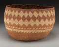 American Indian Art:Baskets, A Large Wintu Twined Storage Basket . c. 1900...