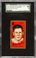 Baseball Cards:Singles (Pre-1930), 1911 T205 Sovereign Mordecai Brown SGC 84 NM 7 - Pop One, Highest Graded Example! ...