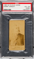 Baseball Cards:Singles (Pre-1930), 1887 N172 Old Judge Harry Wright, Phil'a (N L), Portrait/Looking Right (#510-1b) PSA VG-EX 4 (MK). ...